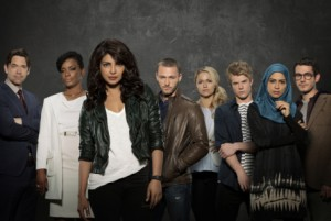 "QUANTICO - ""Quantico"" stars Priyanka Chopra as Alex, Dougray Scott as Liam, Jake McLaughlin as Ryan, Aunjanue Ellis as Miranda, Yasmine Al Massri as Nimah, Johanna Braddy as Shelby, Tate Ellington as Simon Asher and Graham Rogers as Caleb Haas. (ABC/Craig Sjodin) DOUGRAY SCOTT, AUNJANUE ELLIS, PRIYANKA CHOPRA, JAKE MCLAUGHLIN, JOHANNA BRADDY, GRAHAM ROGERS, YASMINE AL MASSRI, TATE ELLINGTON"